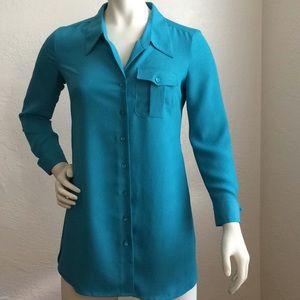 Nic+Zoe button down tunic length blouse